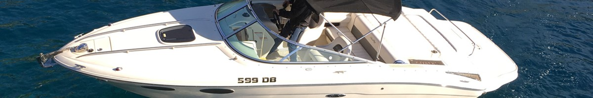 240 Sunsport Speed boat for private excursion or charter in Dubrovnik
